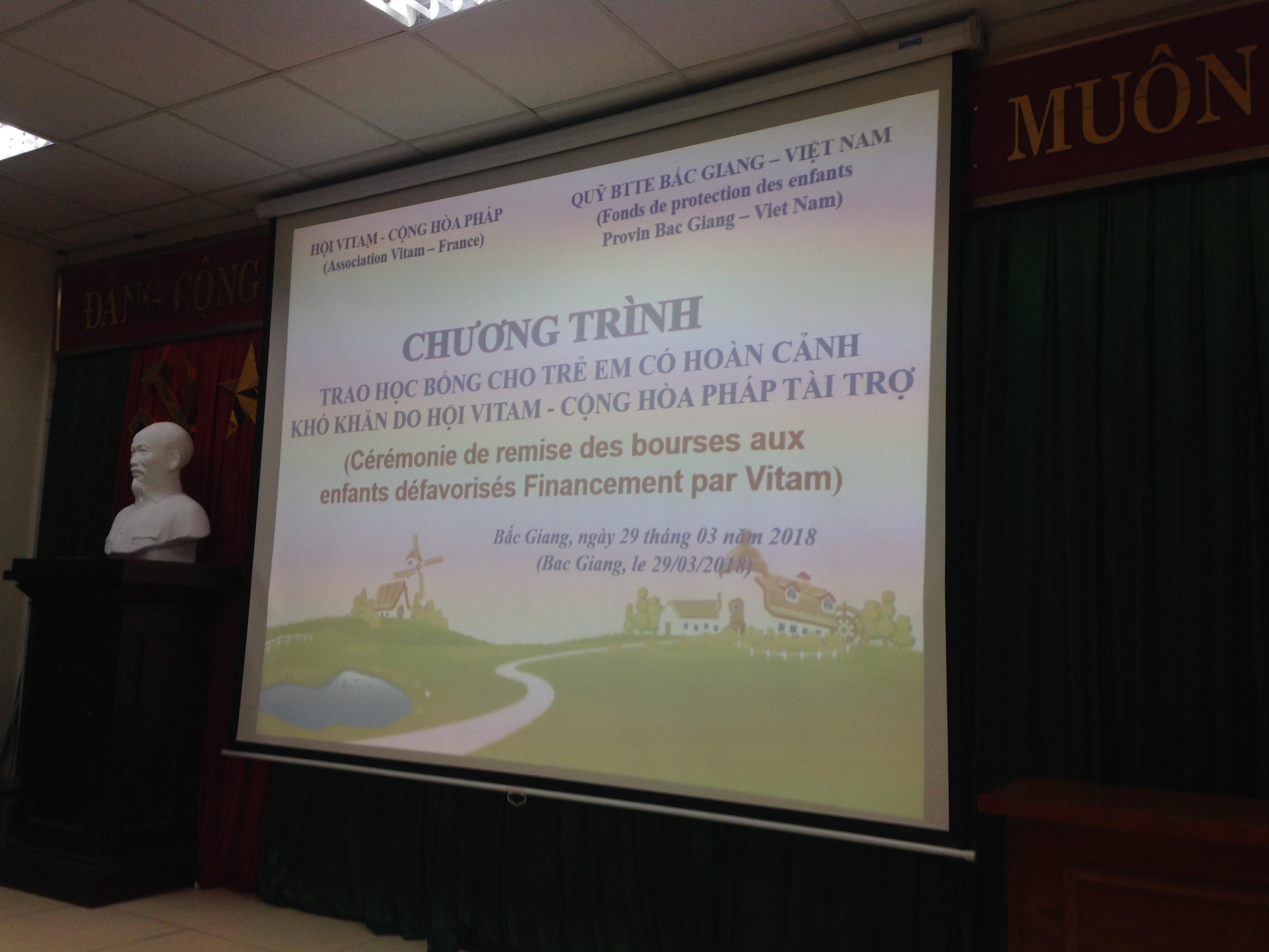 Remise des bourses à Bac Giang